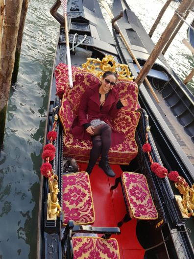 The gondola matched by jacket. #Fate