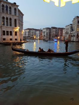 The view from Antico Caffe Ristorante Al Buso near the Rialto Bridge