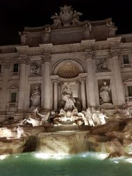 Close-up of the Trevi Fountain