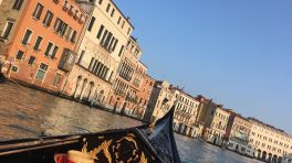View of the Grand Canal from our gondola